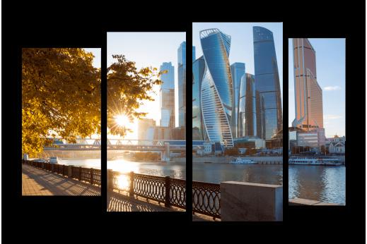 Модульная картина Начало осени в Москве